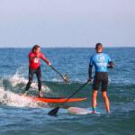 Cours de stand-up paddle - Philippe - école de surf Hastea