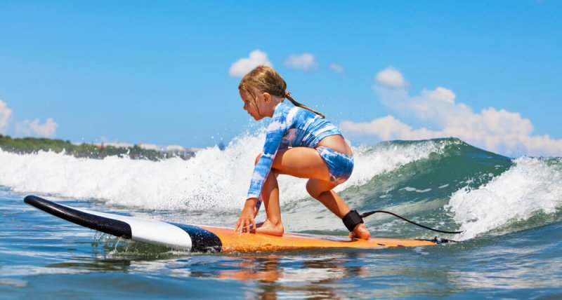 From what age can you learn to surf ?