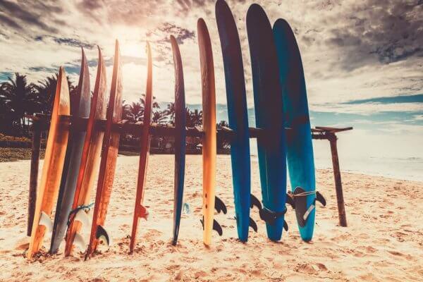Chosir planche de surf débutant - École de surf Hastea